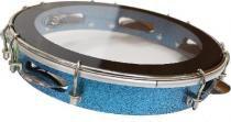 Pandeiro 10 linha sparkle madeira azul ptpa00148 - Canario