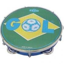 Pandeiro De 10 Polegadas Pele Brasil Gol Em Abs P10 Izzo - Izzo