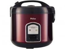 Panela de Arroz Elétrica Philco Inox Red Collection PPA10VGVI 700W 10 Xícaras Vermelha