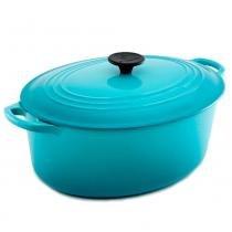 Panela de ferro oval Le Creuset azul caribe 31CM 6,3L - 2280 -