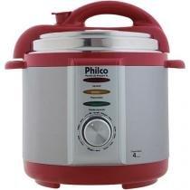 Panela elétrica pressão 4l 127v vermelha 056401035 - philco -