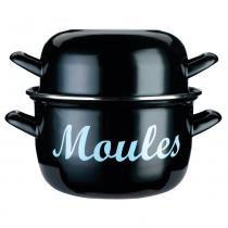 Panela esmaltada Moules Kitchen Craft preta 24 cm - 27755 -