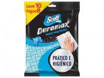 Pano de Limpeza Scott Duramax Multiuso - 10 Unidades