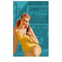 Pano de Prato Coca Cola Pin Up Azul - Gorila clube