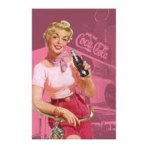 Pano de prato coca-cola pin up bike - Coke