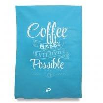 PANO DE PRATO COFFEE AZUL - Unica - QUE COZINHA