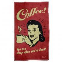 Pano de prato coffee you can sleep when you are dead - Yaay