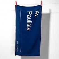 Pano de Prato Placa SP Av. Paulista - ATELIæR LAO ROSA