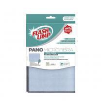 Pano Para Limpeza de Vidro Microfibra Azul - 28136 - Flash limp