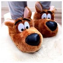 Pantufa Scooby-Doo Ricsen de Pelúcia Fechada Unissex 3D 37/39 Marrom - Ricsen