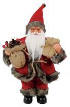 Papai Noel com Saco Berr e Pres Vinho 30 cm - Comprenet