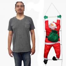 Papai Noel Escada Natal Escalador Enfeite Natalino Decoracao (BSL-36041-11) - Braslu