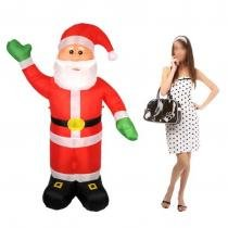 Papai Noel Inflavel De Natal Para Decoraçao Natalina 1M E 80CM (BSL-36041-2) - Braslu