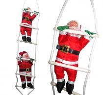 Papai Noel Natal 2 Bonecos Enfeite Escada Decoração Escalador Natalino (BSL-36041-10) - Braslu