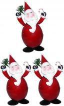 Papai Noel Natal Kit Com 3 Unidades Para Decoracao Enfeite Natalino (NA-06 Papai Noel) - Braslu