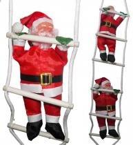 Papai Noel Natalino 2 Bonecos Escada Escalador Enfeite Natal Decoracao (BSL-36041-10) - Braslu