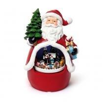 Papai Noel Trem Decoração Natal Vermelha - Cromus