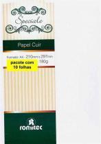 Papel 180 Gramas Couro Branco 2895 Pacote Com 10 Folhas Romitec -