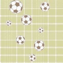 Papel De Parede Coleção Bim Bum Bam Verde Branco Futebol 2245 Cristiana Masi - Lymdecor