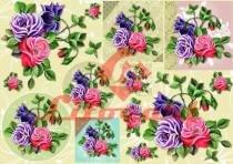 Papel Decoupage Grande Flores LD-691 Litocart -