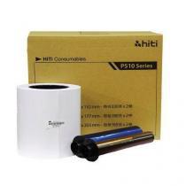Papel e Ribbon p/ Impressora P510 HITI 15x20 -