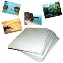 Papel fotográfico adesivo a4 glossy 130gr m² 20 fls Inkfast