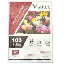 Papel Fotográfico Glossy A4 135gr - Pacote com 100 Folhas VISUTEC -