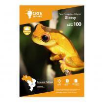 Papel Fotográfico Glossy A4 180g Crie Sempre 100 folhas -