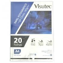 Papel fotográfico glossy a4 180gr - pacote com 20 folhas - visutec -