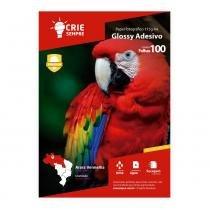 Papel Fotográfico Glossy Adesivo A4 115g Crie Sempre 100 folhas -