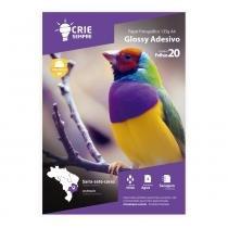 Papel Fotográfico Glossy Adesivo A4 135g Crie Sempre 20 folhas -