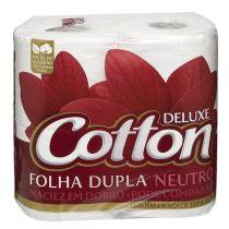 Papel Higiênico Cotton Folha Dupla Neutro 4 Unidades - COTTON SOFT
