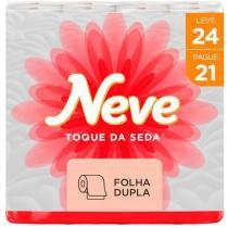 Papel Higiênico Folha Dupla Neve - Toque de Seda 24 Rolos 30m