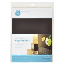 Papel imprimível silhouette  magnético branco printable magnet paper com 04 unidades 21,8 x 28 cm -