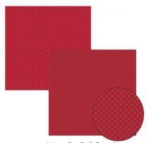 Papel Scrap Basico Vermelho Poa Grande KFSB127 - Toke e Crie by Ivana Madi -