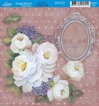 Papel Scrap Decor Folha Simples 15x15 Flores SDSXV-001 - Litoarte - Litoarte