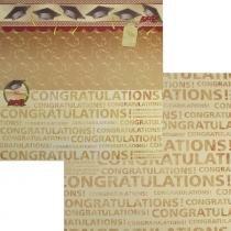 Papel Scrapbook Dupla Face 30,5x30,5cm Congratulations LSCD-059 - Litocart - Litocart