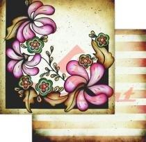 Papel Scrapbook Dupla Face Flores LSCD-180 - Litocart - Litocart