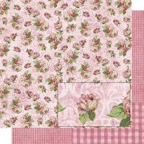 Papel Scrapbook Dupla Face Rosas SD-485 - Litoarte - Litoarte
