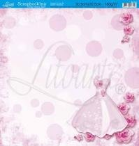 Papel Scrapbook Dupla Face Vestido SD-023 - Litoarte -