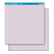 Papel Scrapbook Folha Dupla Face Quadriculado SD-110 - Litoarte -