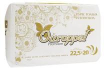 Papel Toalha Interfolha Ouroppel Branco 100 Celulose 2 Dobras 22,5 cm x 20 cm c/ 1.000 Unidades -