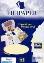 Papel Verge A4 30f 120g Creme 1873 Filiperson - 952727
