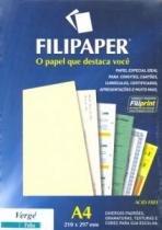 Papel Verge A4 30f 120g Palha 1871 Filiperson - 952727