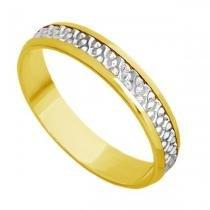 Par de Aliança Casamento em Ouro 18k Bodas de Prata abp20 - Joiasgold