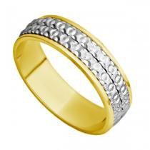 Par de Aliança Casamento Ouro 18k Bodas de Ouro abp29 - Joiasgold