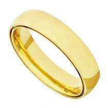Par de Alianças de Casamento em Ouro 18k Dupla Anatômica Lisa ead50 - Joiasgold