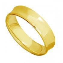 Par de Alianças de Casamento Ouro 18K Côncavas Lisas Anatômicas eac60A - Joiasgold