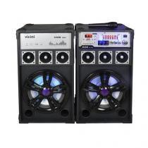 Par de Caixas Amplificadoras de Som 300W Bivolt - Vicini - VC-7300 -