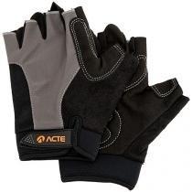 Par de Luvas para Academia/Musculação Tam. GG - Fechamento em Velcro Acte Sports A45 Preto e Cinza